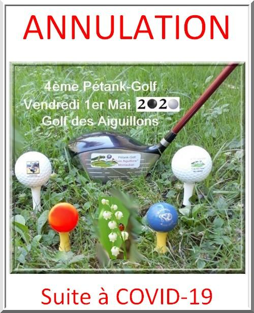 Annulation pétank-golf 2020