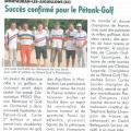 Golf magazine article pétank-golf pour occitanquie